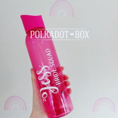 Pink Plastic Water Bottle