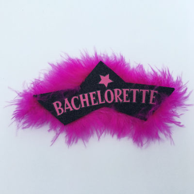 Bachelorette Feather Badge