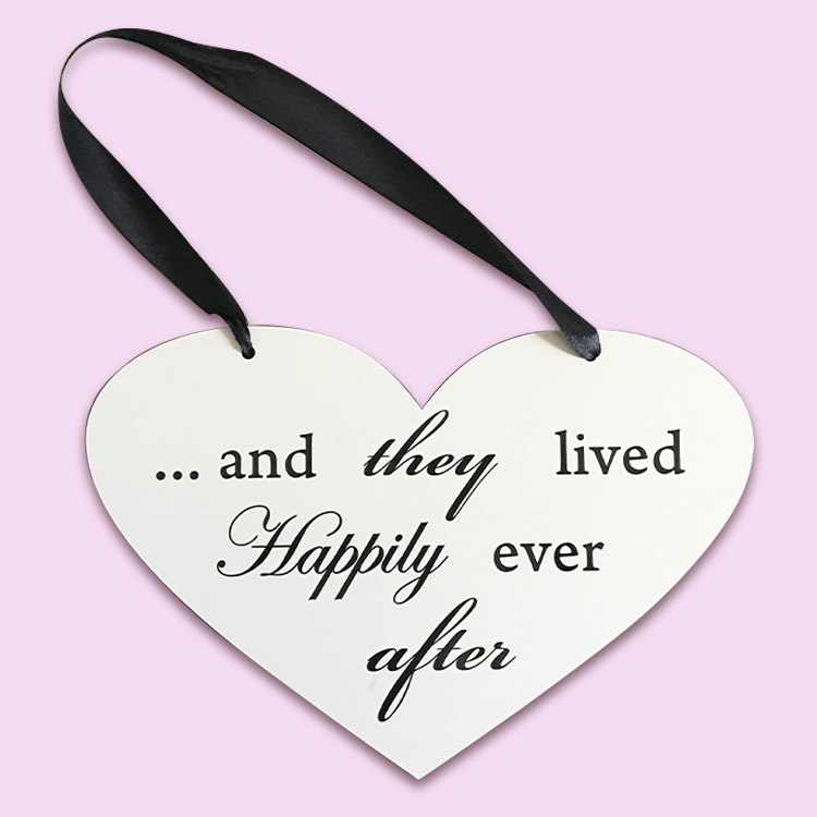 Happily Ever After Heart Sign
