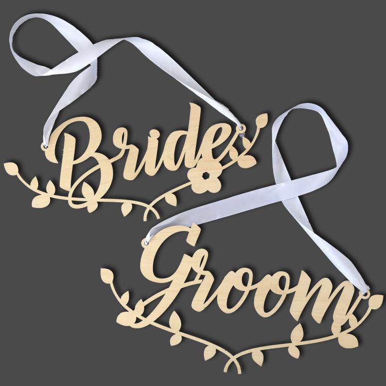 Bride & Groom matching chairbacks