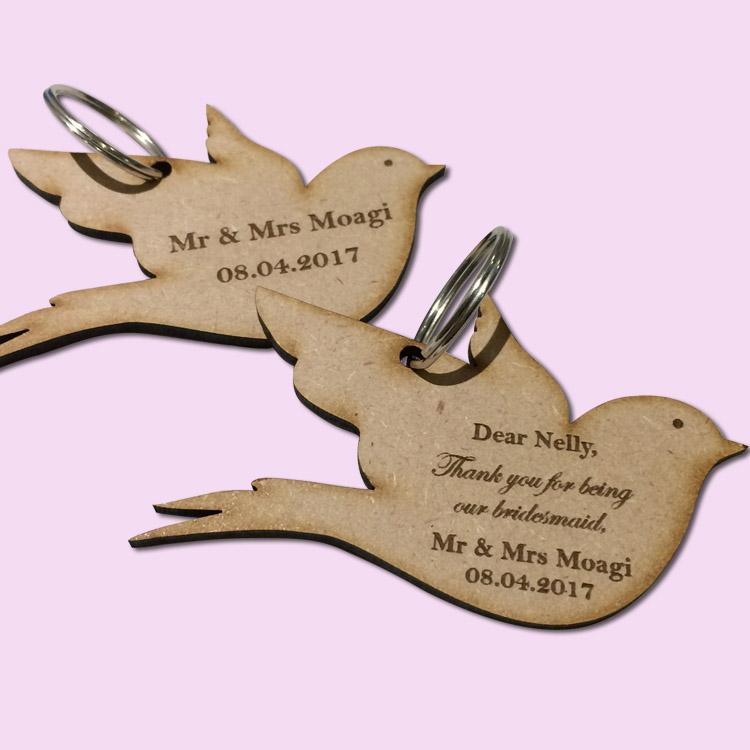 custom bird Key rings