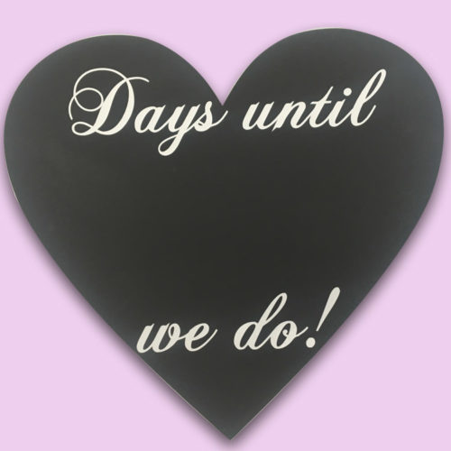 Wedding countdown magnet