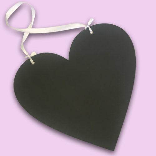 Heart Shaped Chalkboard Sign