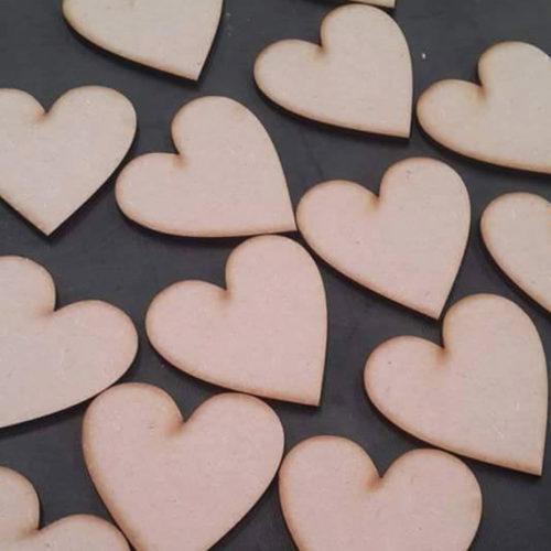 Plain Wooden Hearts