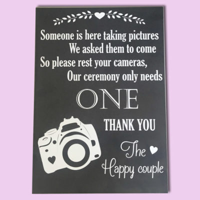 Photo Board Wedding Sign