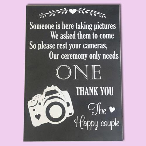 Photo Board Wedding Sign