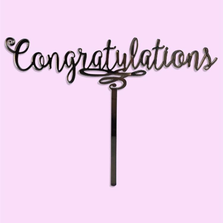 congratulations cake topper