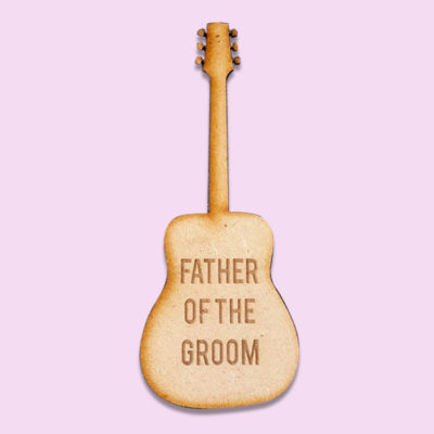 guitar bridal party badge
