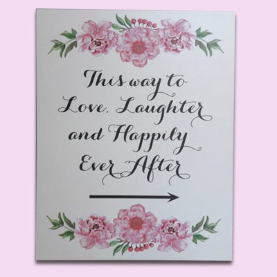 White Happily Ever After Sign