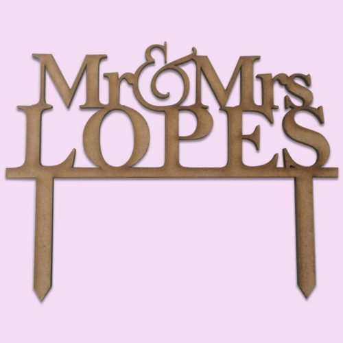 Personalized Surname Cake Topper