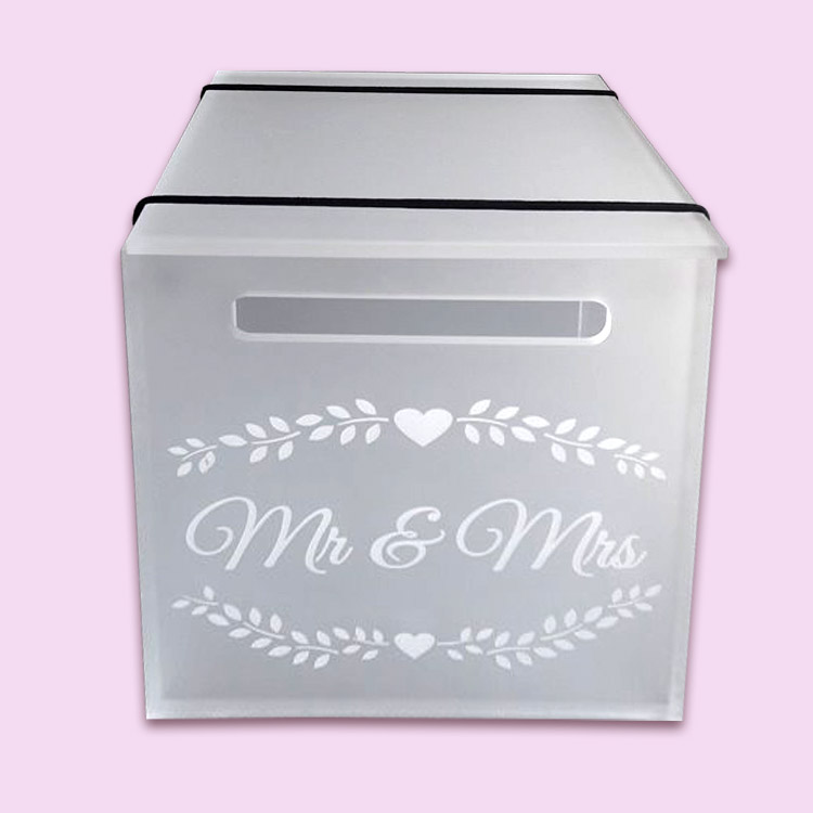 Perspex Mr & Mrs Envelope Gift Box