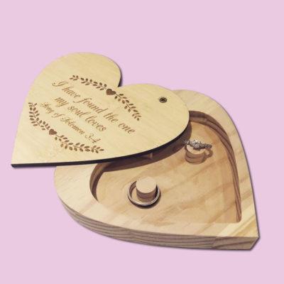 Engraved Heart Ring Holder