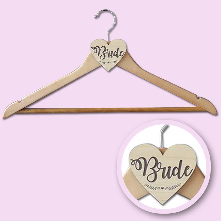 wooden bride hanger