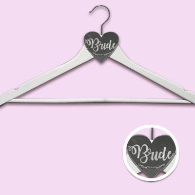 White Acrylic Bride Hanger