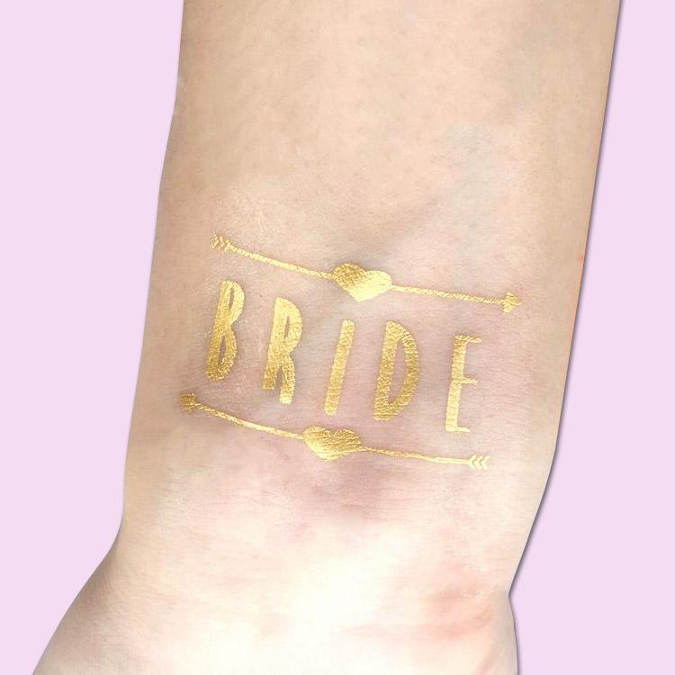 bride gold metallic tattoo