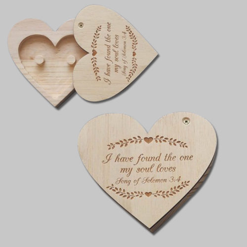 engraved heart ring holder