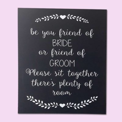 Seating Board Wedding Sign