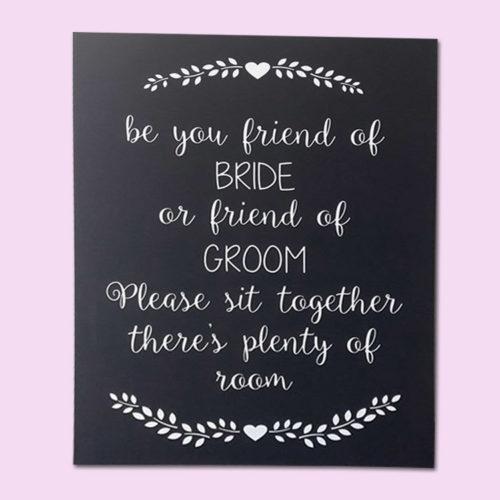 Seating Board Wedding Sign