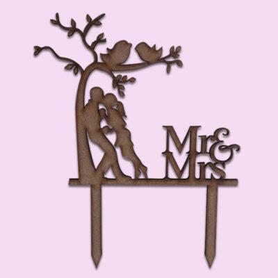 Mr & Mrs tree Cake Topper