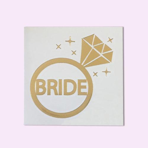 bride metallic gold tattoo