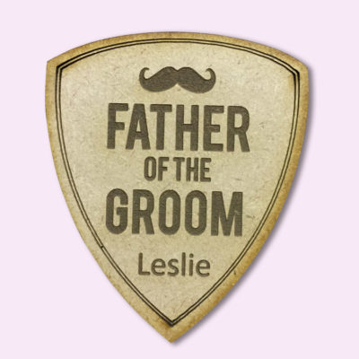 Custom Shield Bridal Party Badge