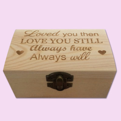 Always Will Engraved Little Box