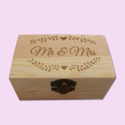 Mr & Mrs Floral Engraved Little Box