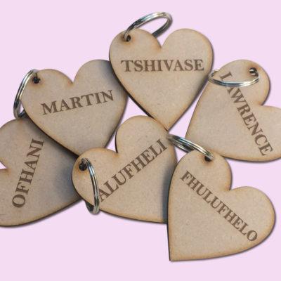 Custom Heart Key Rings