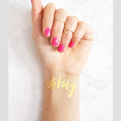 Oh Baby! Gold Metallic Tattoo