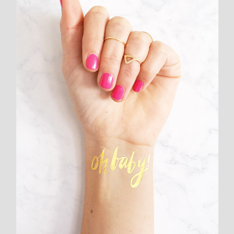 Oh Baby! Gold Metallic Tattoo