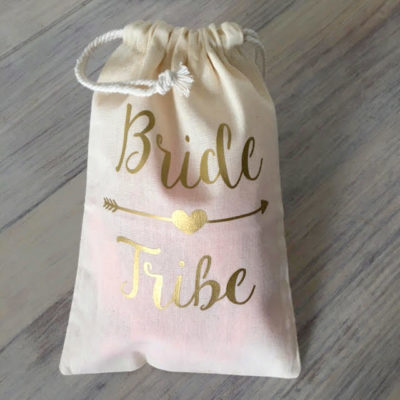 arrow bride tribe drawstring bag