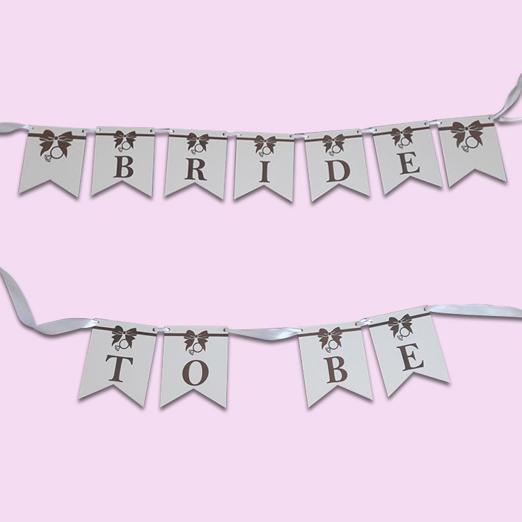 Bride to Be Wooden Bunting