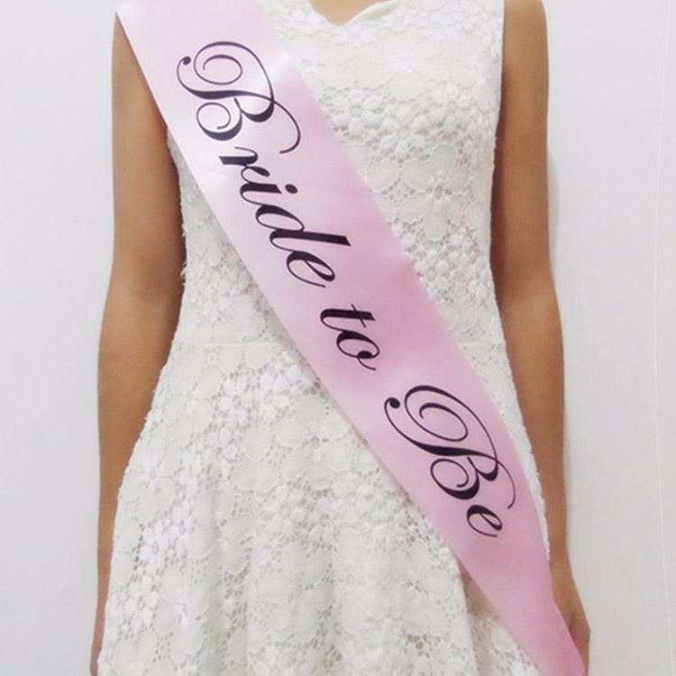 pink bride to be sash