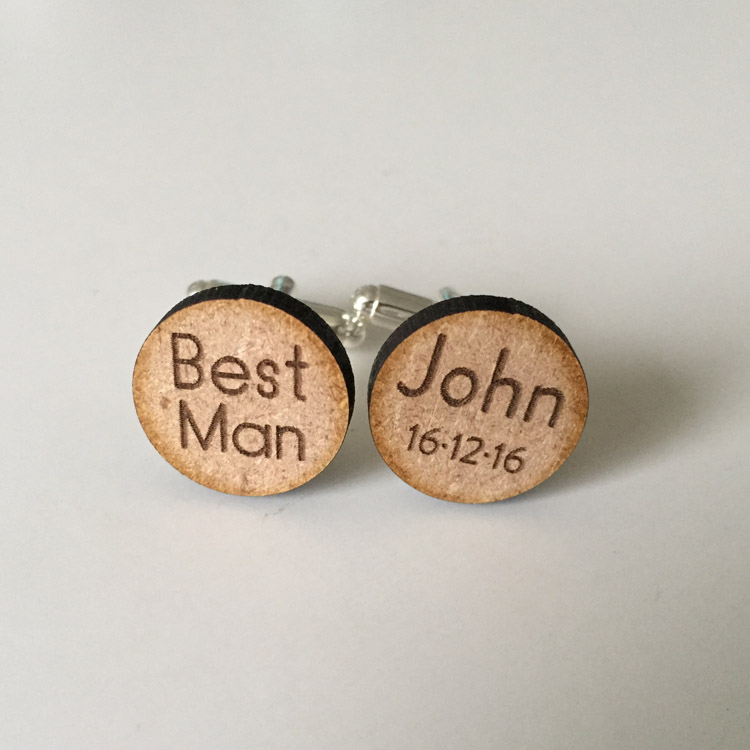 Custom Best Man Cufflinks