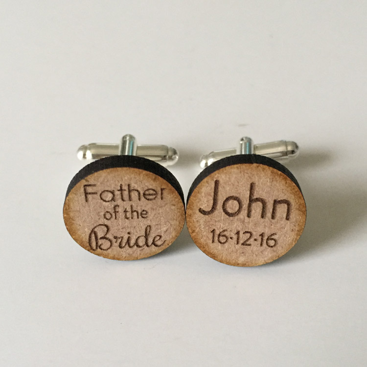 Custom father of the bride cufflinks