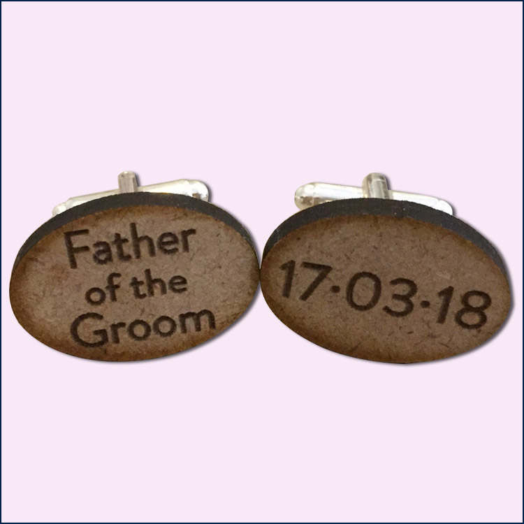 father of the groom oval cufflinks