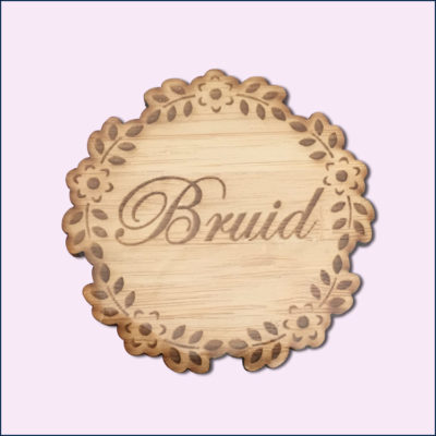 Flower Bridal Party Badge