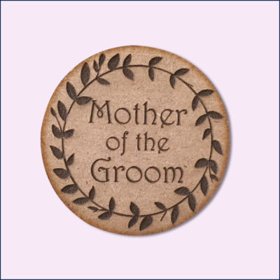 Floral Bridal Party Badge
