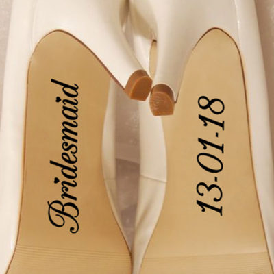 Custom Bridesmaid Shoe Vinyl