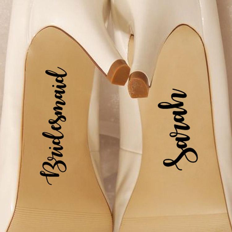 Custom Bridesmaid Shoe Vinyl