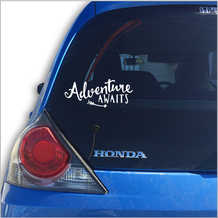 Adventure Awaits Car Vinyl