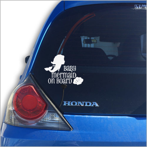 Baby Mermaid Car Vinyl