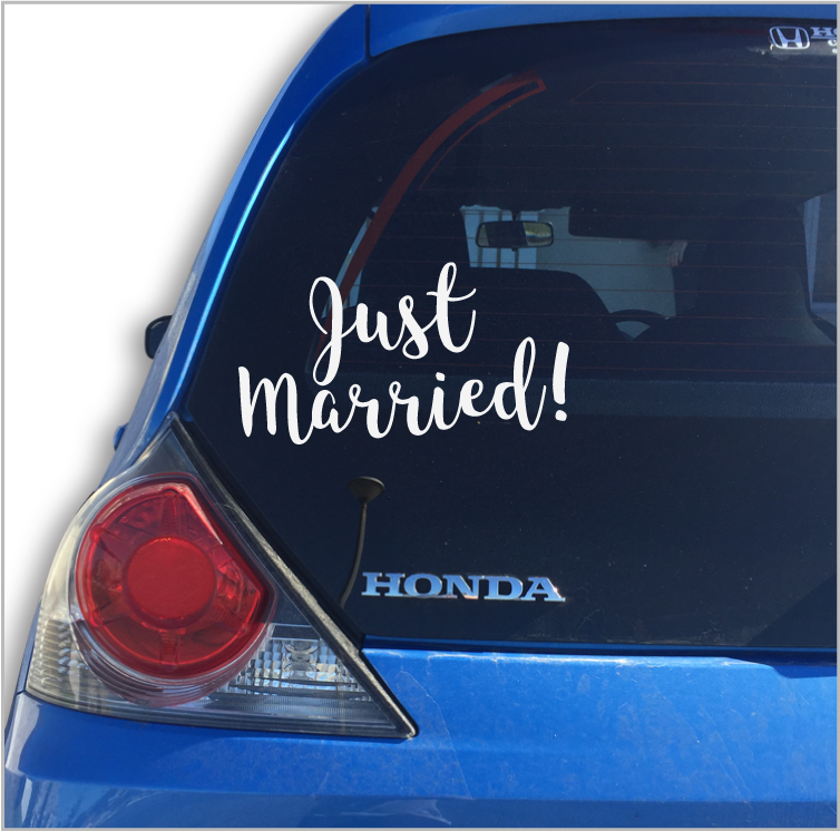 Just Married Car Vinyl