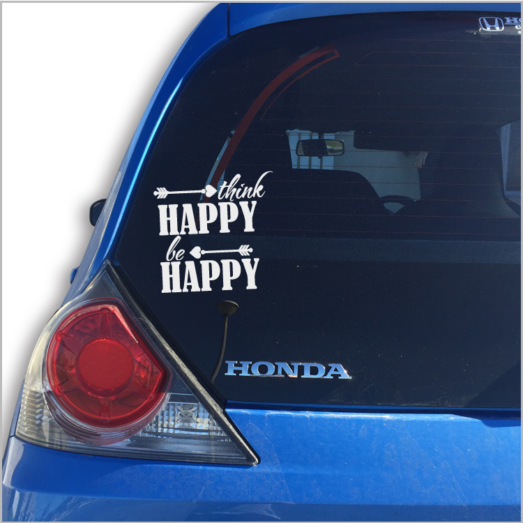 Think Happy Car Vinyl