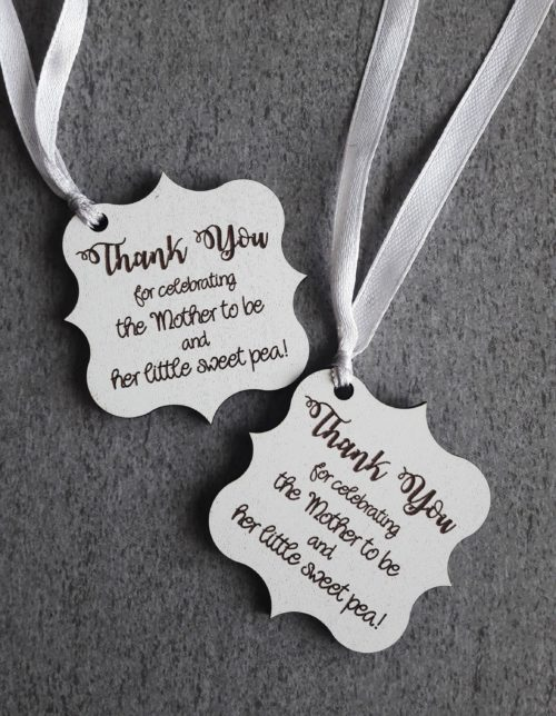 Sweet Pea Thank You Tags