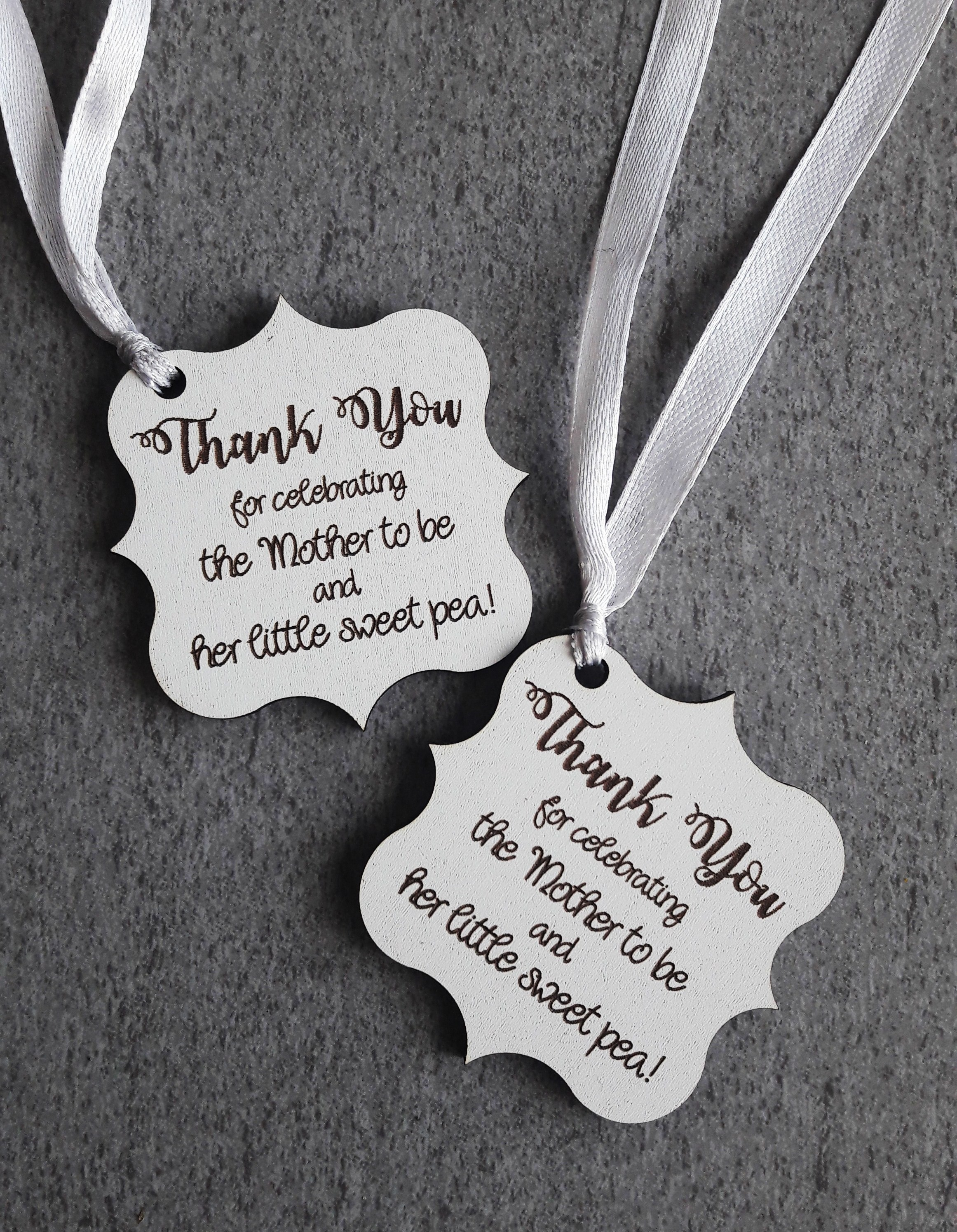 Sweet Pea Thank You Tags For Baby Showers South Africa Polkadot Box