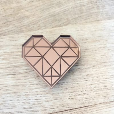 Geometric Heart Badge