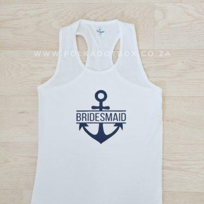 Bridesmaid Anchor Tank Top