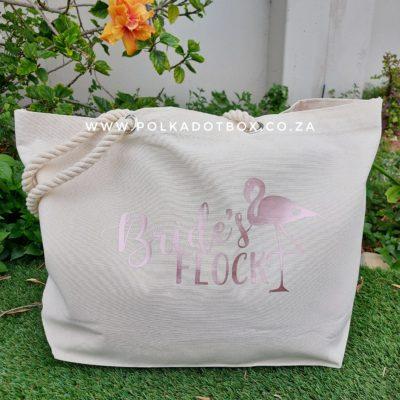 Bride's Flock Beach Bag