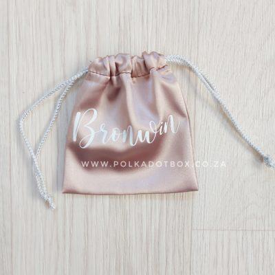 Small Satin Drawstring Bag